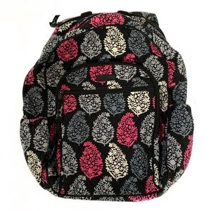 VERA BRADLEY Campus Tech Black/Gray/Pink Backpack